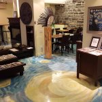 Check out the flooring - and think of The Starry Night