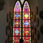 stained glass windows in chapel