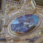 beautiful ceiling inside the castle