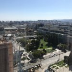 View of Yerba Buena Gardens, the Metreon and Moscone Center from room 1805