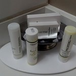 Paul Mitchell amenities including hand lotion