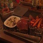 Tasty buffalo chicken burger