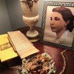 Beautiful family mementos in living room