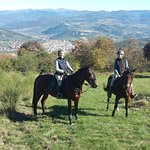 Riding on top of the Chianti hills
