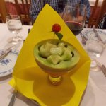 Melon in port wine