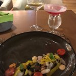Yellowfin Crudo Paired with Petit Chablis