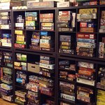 The boardgame library is available for free play in store or take a game home for a small rental