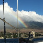 Beautiful rainbow followed us up and down the coast for the entire time we sailed.