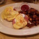 Eggs Benedict. The Hollandaise sauce is perfect!