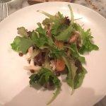 Mushroom, pig's ears, and kale salad