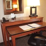 Two-Level Work Desk in Every Room, Lower Desk Pulls Out and Moves