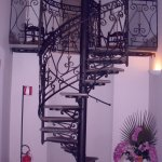 spiral staircase to bridal suite
