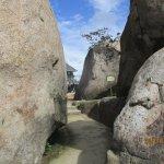 Strange rock formations near the summit