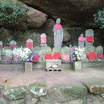 a shrine near the summit