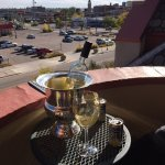 Enjoying Wine On 3rd Floor Balcony