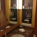 Bathroom. No hair dryer