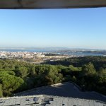 View from the top of the abandoned Panorama Restaurant and Casino in Lisbon.