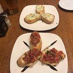 Bruschetta and Cheesy Garlic Bread