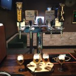 Great selection of craft beers on tap, including taster trays!