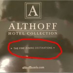 "Claim der Hotel-Kette ""Fine Dining Destinations"" Wo?"