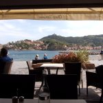 View of Collioure bay from our table at Chez Simone :)