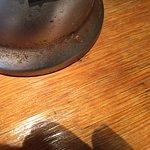 Rusty base of desk lamp...