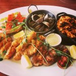 Seafood platter at 'Marvel Grill', North Wharf, Auckland