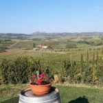 Pick up of clients from a Agriturismo near Montepulciano. Breathtaking view