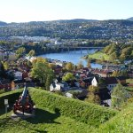 View of Trondheim from ramparts