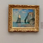 Claude Monet: The Cliffs of Etretat - stay further away from the painting to experience the magi