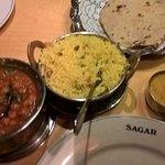 Channa,Lemon Rice,Chapati.