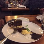 a large, decadent dessert