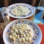 risotto y ghocchi al roquefort buenísimo