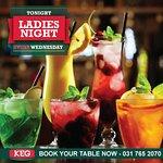 Ladies night every Wednesday 50% off ladies dining with ladies book 031 7652070