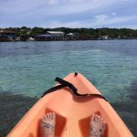 Free use of the kayaks for hotel guests. We enjoyed kayaking on the ocean!