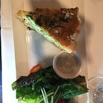 quiche of the day and side salad.