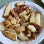"Small matter .. but these are not ""hash browns"" .. these are chopped up french fries, let's be c"