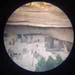 A closer view through the free spotting scopes