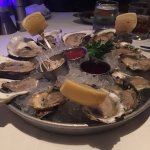 Glorious selection of oysters for our starter