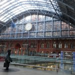The inside of St. Pancras station