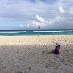 making sandcastles on the beach