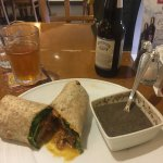 Butter Chicken Wrap with Soup of the day