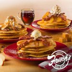 New Pancakes! Apple Bacon, Maple Bacon, and Banana Pecan Pancakes available today!
