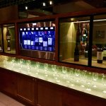 Wine dispenser in the lobby