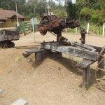 No museu antigos equipamentos utilizados na mina
