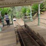 Entrada da mina. O carrinho desce 350 metros puxado por cabo de aço.
