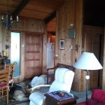 "Inside our ""cabin"" house"