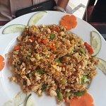 friend rice with chicken