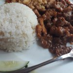 grilled pork with chilli and lemongrass and rice