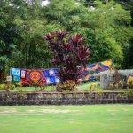 Batiks drying in breeze
